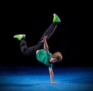 Little boy break dancer
